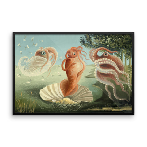 The Birth of Squid framed print