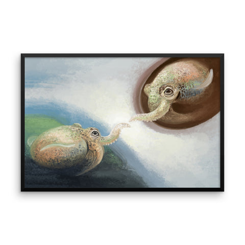 The Creation of Squadam framed print