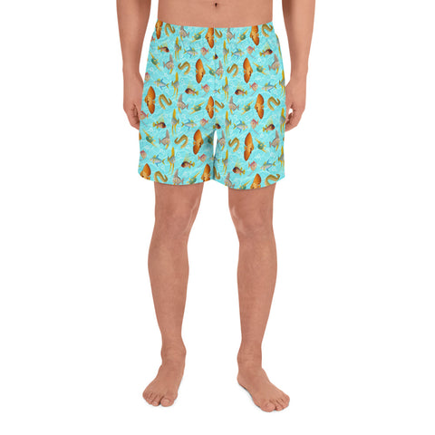 Monte Bolca Coral Reef Fish athletic long shorts