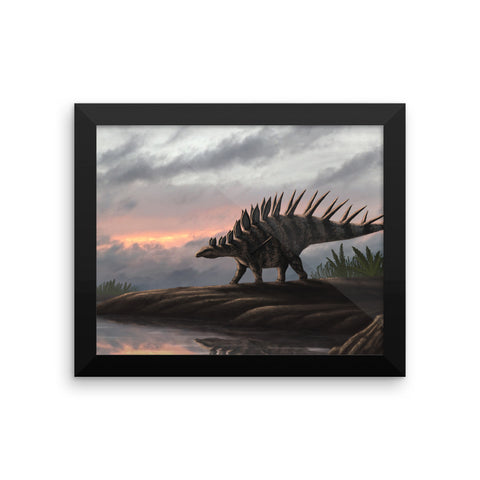 Kentrosaurus framed print