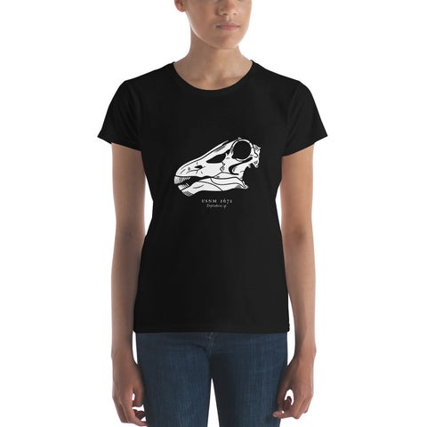 Diplodocus skull women's short sleeve t-shirt