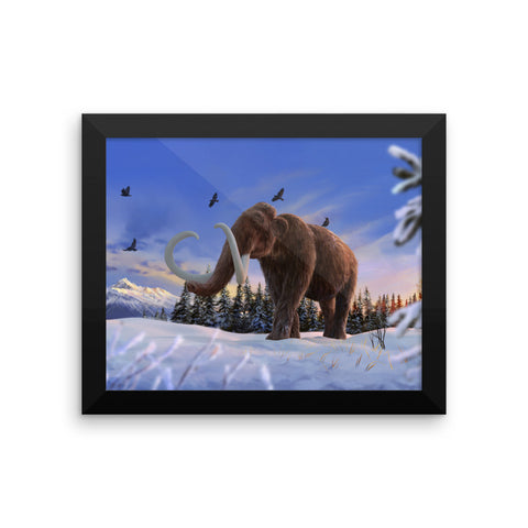 Woolly mammoth framed print