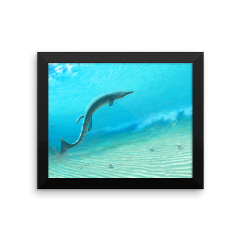 Metriorhynchid framed print
