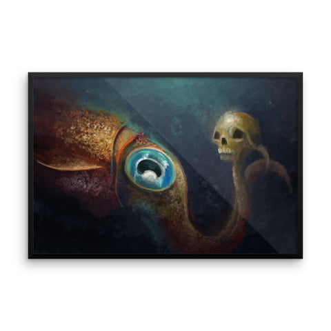 To Squid or not to Squid framed print