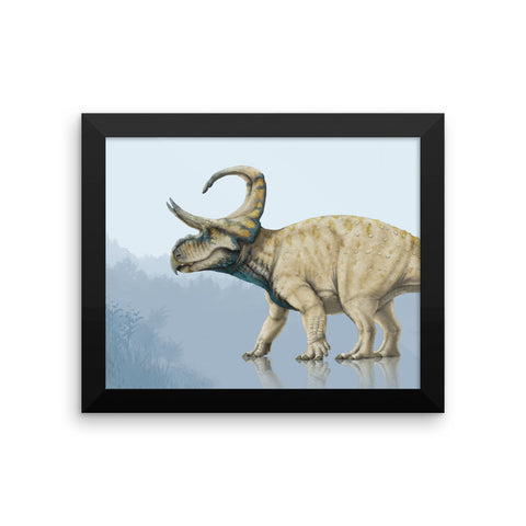 Machairoceratops framed print