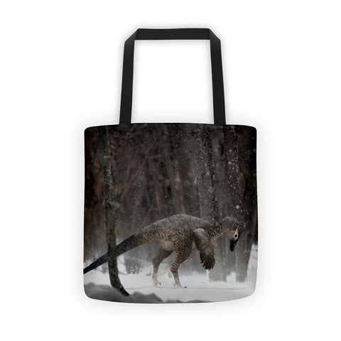 Alaskan troodontid tote bag