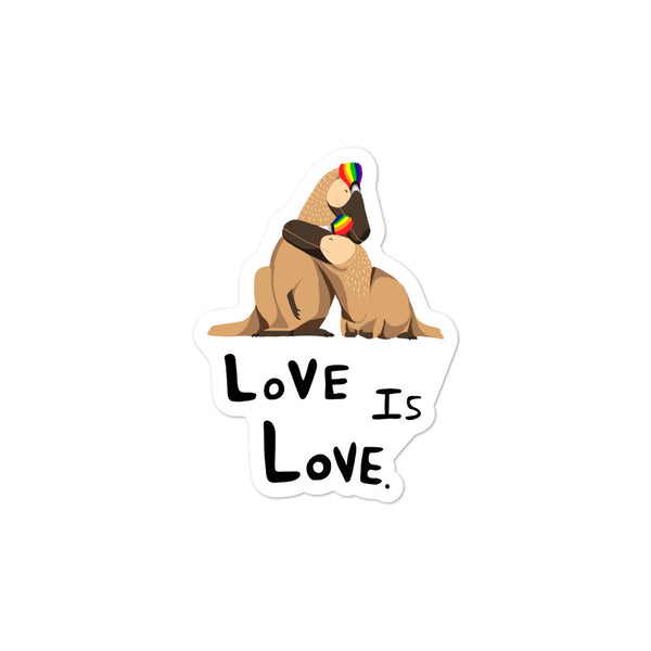 Love Is Love Pride stickers