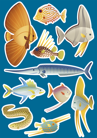 Monte Bolca Fish stickers
