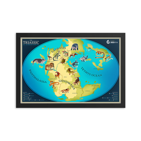 Triassic Map framed print