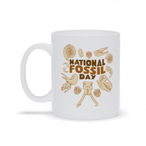 National Fossil Day mug