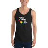 Y'all Means All dinosaur pride tank top