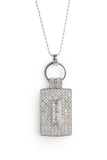 Designer, silver, bling, 925, jewellery, diamonds, necklace, belcher, pendant, Tiffany, chanel, rectangle, coco rouge necklace,