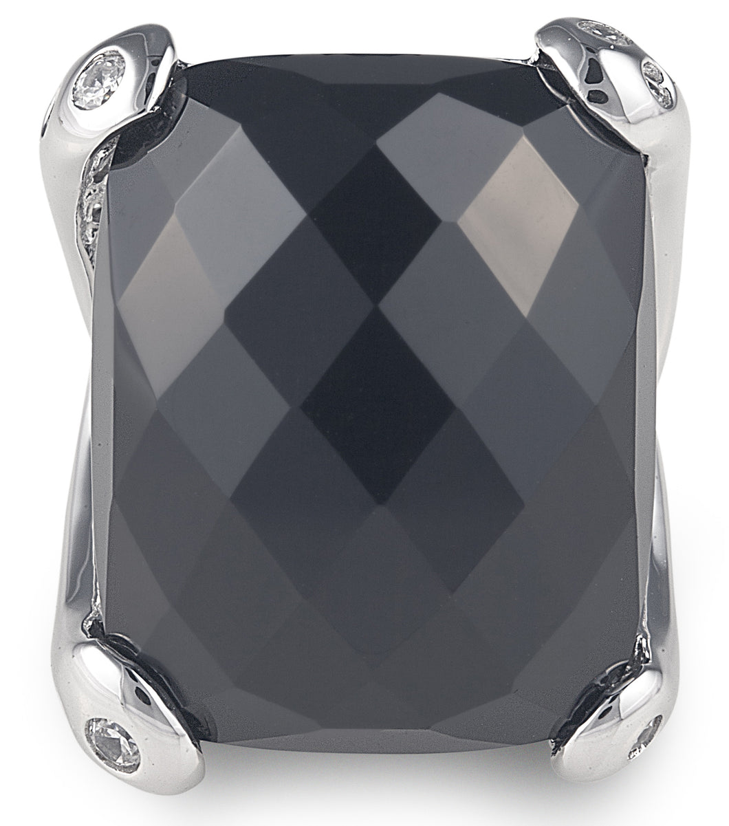 designer, bling, black, onyx, casual, every day, ring, rectangle, beyonce ring,