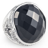 tiffany, silver, designer, ring, bling, diamonds, wedding, black onyx, black night lopez ring,