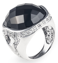 Charger l'image dans la galerie, tiffany, silver, designer, ring, bling, diamonds, wedding, black onyx, black night lopez ring,