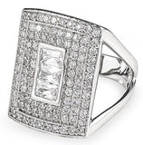 Designer, silver, bling, 925, jewellery, diamonds, ring, Tiffany, chanel, rectangle, coco rouge ring,
