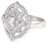 designer, retro, bling, diamonds, cubic zirconia, wedding, engagement, gatsby ring,
