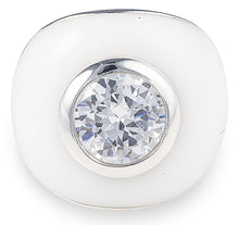 Load image into Gallery viewer, tiffany, silver, designer, ring, bling, diamonds, wedding, white ring, bianca ring,
