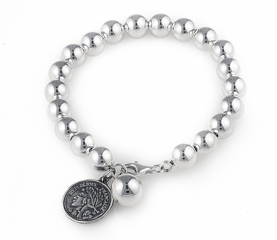 tiffany, silver, ball, bracelet, jewellery, no bling, casual, heart, contessa bracelet,