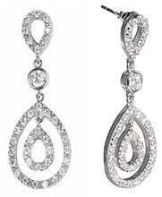 Load image into Gallery viewer, Designer, silver, 925, jewellery, Tiffany, bling, diamonds, earrings, audrey earrings,