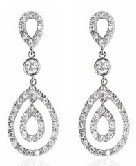 Designer, silver, 925, jewellery, Tiffany, bling, diamonds, earrings, audrey earrings,