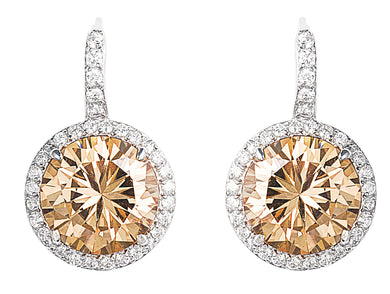 designer, tiffany, bling, silver, diamonds, 925, earring, jewellery, drop, champagne, empire earrings,