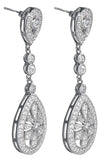 tiffany, silver, designer, earring, bling, diamonds, wedding, vintage, long, chandelier drop earrings,