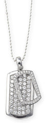 High Bling Tag Pendant on 80cm Bead Me Up Chain