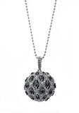 Designer, silver, 925, jewellery, Tiffany, bling, diamonds, pendant, long necklace, ball, chiara necklace,