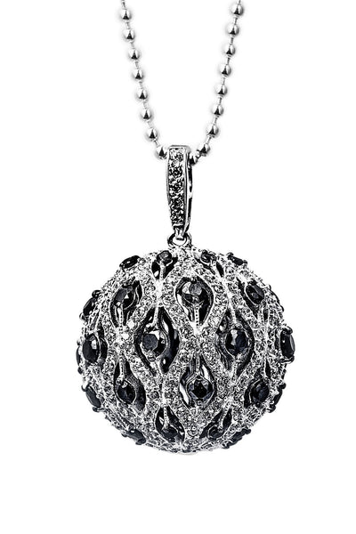 Designer, silver, 925, jewellery, Tiffany, bling, diamonds, pendant, necklace, ball, chiara necklace,