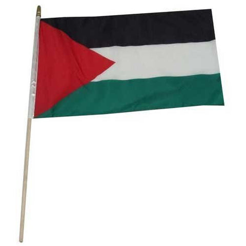 One Dozen Palestine 12x18in Stick Flags.