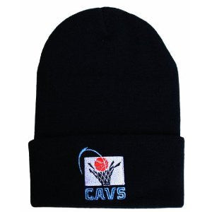Cleveland Cavaliers Vintage Fold Cuff Knit Hat Beanie Black