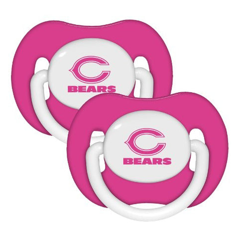 Chicago Bears Pink 2-pack Infant Pacifier Set - 2014 NFL Baby Girl Pacifiers
