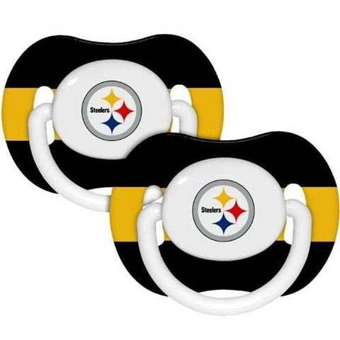 Pittsburgh Steelers Football NFL-licensed 2-pack Infant Pacifier Set