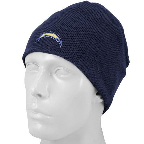 NFL Reebok San Diego Chargers Navy Blue Basic Knit Beanie Cap -