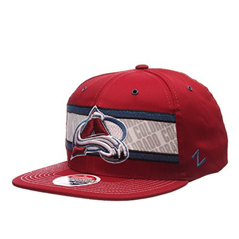 "Colorado Avalanche ""EPIC"" 32/5 Adjustable Snapback Cap - NHL Flat Bill, One Size Baseball Hat"