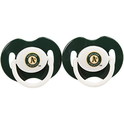 Oakland Athletics Green 2-pack Infant Pacifier Set - MLB As A's Solid Color Baby Pacifiers