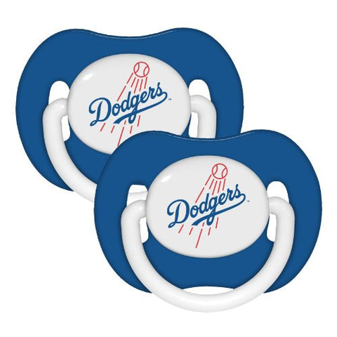 Los Angeles Dodgers 2-pack Infant Pacifier Set - 2014 MLB Solid Color Baby Pacifiers