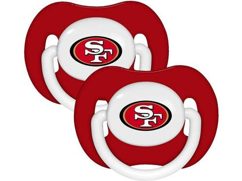 San Francisco 49ers 2-pack Infant Pacifier Set - 2014 NFL Solid Color Baby Pacifiers