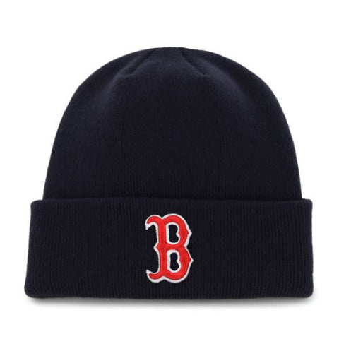 Boston Red Sox Navy Blue Beanie Hat - MLB Cuffed Winter Knit Cap