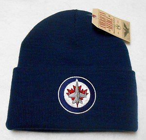 Winnipeg Jets Blue Beanie Hat - NHL Cuffed Winter Knit Toque Cap