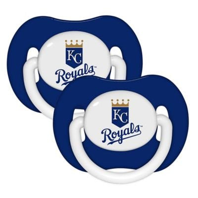Baby Fanatic MLB Kansas City Royals 2-Pack Pacifiers