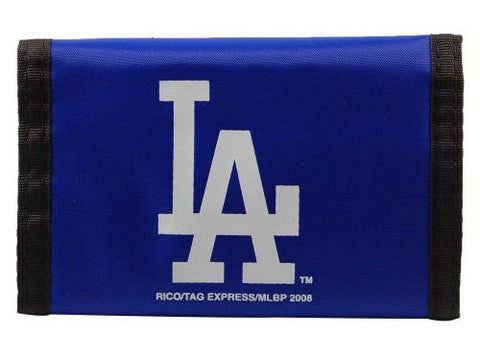 Los Angeles LA Dodgers VELCRO Nylon Wallet - MLB Rico TriFold Money Clip