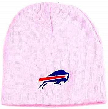 Buffalo Bills Pink Skull Cap - NFL Cuffless Beanie Knit Hat