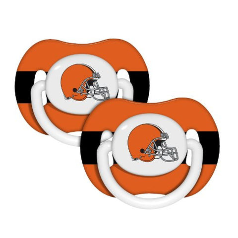 Baby Fanatic NFL Cleveland Browns Baby Fanatic 2-Pack Pacifiers