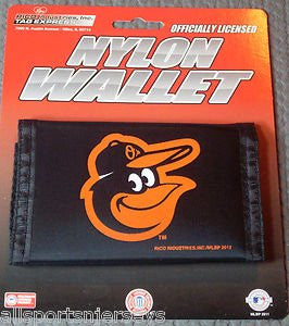 Baltimore Orioles LOGO VELCRO Nylon Wallet - MLB Rico TriFold Money Clip
