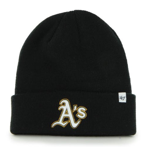Oakland Athletics As A's Black Beanie Hat (WL B47) - MLB Cuffed Winter Toque Knit Cap