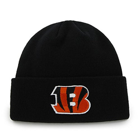 Cincinnati Bengals Black Cuff Beanie Hat - NFL Cuffed Winter Knit Toque Cap