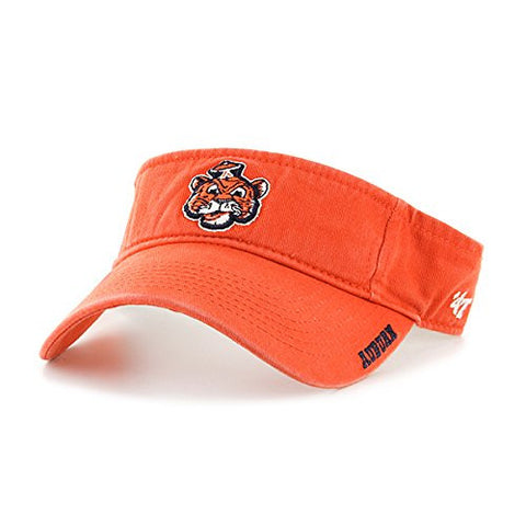47 Brand Auburn Tigers Orange Clean Up Ice Visor Hat - NCAA Golf Cap, Men's One Size