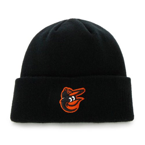 Baltimore Orioles Black Cuff Beanie Hat - MLB Cuffed Knit Toque Cap